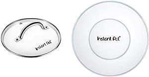 Genuine Instant Pot Tempered Glass lid, Clear 10 Inch (26 cm) 8 Quart & Instant Pot Silicone Lid 8 Quart