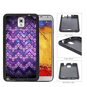 Mini Turtles In Chevron Pattern Purple Rubber Silicone TPU Cell Phone Case Samsung Galaxy Note 3 III N9000 N9002 N9005