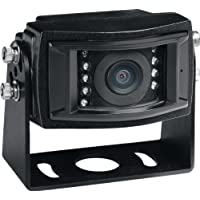Voyager VCCS155B Color CCD IR LED Camera, Black, High performance color optics, Waterproof (IP69K), 155 degrees Viewing angle, IR low light assist (9 LEDs), Mirro image orientation, Microphone, Black Aluminum Housing, Corrosion resistant (ASTM B117)