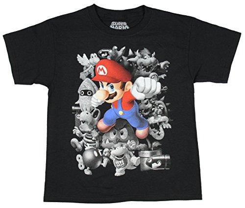 Nintendo Super Mario Good Vs Evil Short Sleeve Graphic Shirt (Small (Yoshi Outfit)