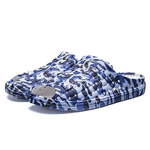 Scarpe Chiaro Pantofole Acqua Traspirante da Spiaggia tqgold Giardino Ciabatta Antiscivolo Uomo Outdoor Mare da Clogs Infradito Sandali Blu Estate Donna qwvRH8