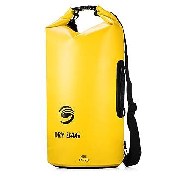 Ultra Dry Bag Waterproof Backpack,40L Large Capacity Premium Sack Bag  Rucksack with Double Shoulder d8dbd148d9