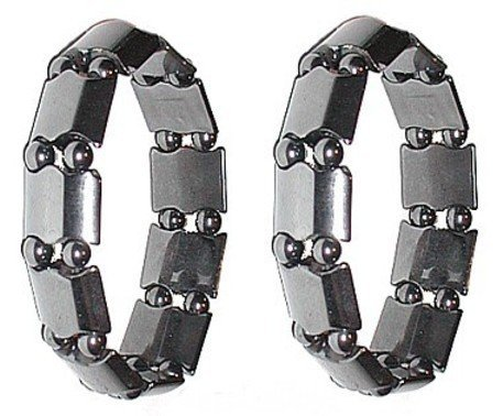 Hematite Magnetic Therapy Bracelets S06C3 Med