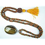 Meditation Yoga Jewelry Set-Rudraksha Prayer Beads Rosary Healing Japamala Necklace