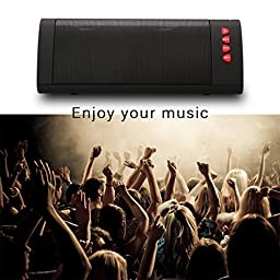 Wireless Speaker, Portable Bluetooth Speaker, I-Venstar Surround Sound Stereo BoomBox Duo Buddy Speaker Set with 12+ Hour Playtime Battery Life 6W Watt Dual Speakers Ultra Bass