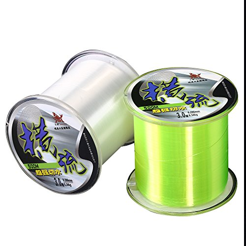 Handing Monofilament Super Power Fluorocarbon Fishing Line Mono Nylon Fish Line 500m/547yard Clear Color 2lb-36lb Multi-specification