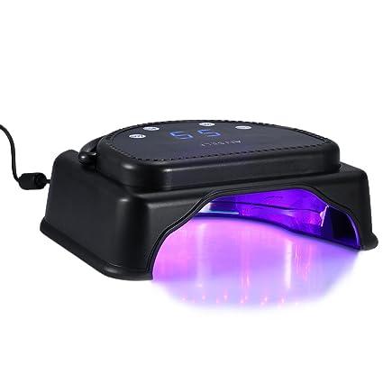 Anself Pro Lámpara sensor de uñas de UV gel esmalte normal para manicura y pedicura,