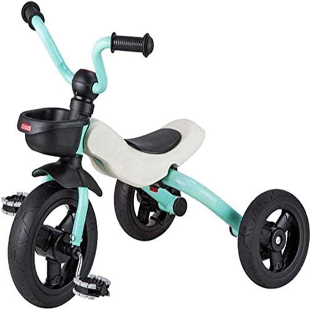AJH Triciclo para niños de Edad de 4 a 6, Triciclo Niños 2-6 Peso Ligero Plegable Triciclo con el Pedal del Asiento Ajustable Manillar Primera Triciclo Scooter