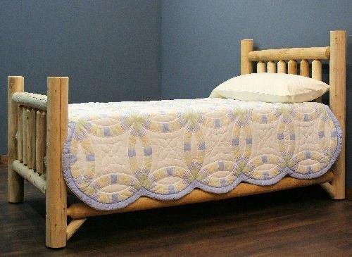 3-OG-92961-O-415545 Rustic Appeal Low Bed King, Unfinished (Rustic Lakeland Log)
