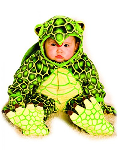 Underwraps Costumes Baby's Turtle Costume Jumpsuit, Green/ Yellow, Large -
