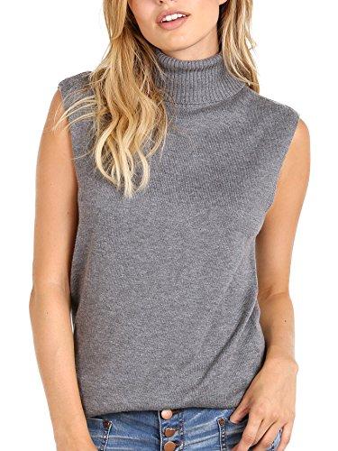 Bella Luxx Cashmere Blend Funnel Neck Heather Grey