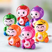 Akrobo Cute Fruits Toys Set with Winding Chain and Moving Wheels Feature for Toddlers Set of 4 ( Multi Color )