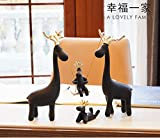 Nordic type deer small ornaments modern minimalist living room TV cabinet cabinet Home Furnishing Decor New Gift zj01261022 ( Color : Black )