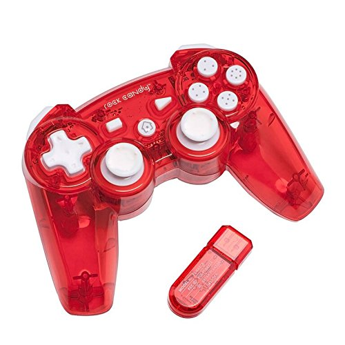 Ps3 Red Wireless Controller - PDP Rock Candy Wireless Controller, Red - PlayStation 3