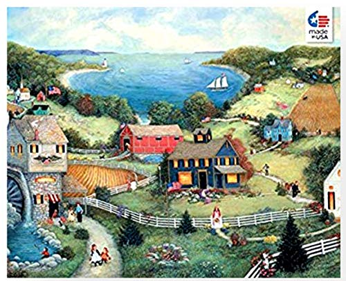 Ceaco Linda Stock Nelson Catherine's Cove Jigsaw Puzzle with Poster Tower Box 550 ()