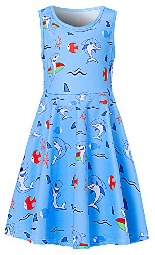 BFUSTYLE Girls sea Twirl Frocks Dresses Summer Tank