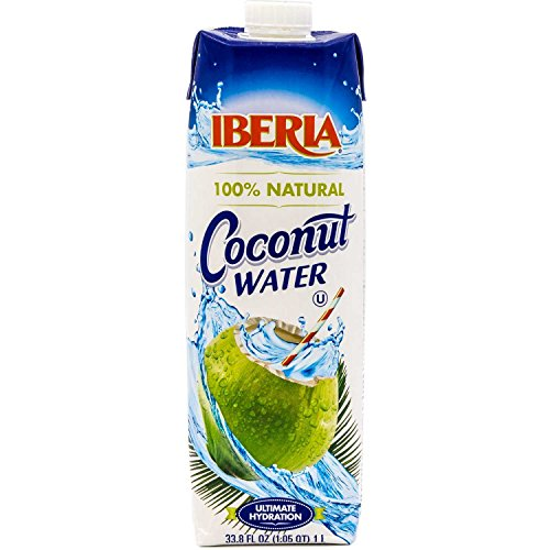 Iberia Coconut Water, 33.8 fl oz (1 liter) 100% Natural Coconut Water with No Additional Ingredients