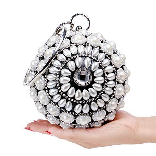 Sposa Nero Da Pochette E Borsa Paillette Nero Ballo colore Peng Sera Per Con Sounded Perline UTqE6vx