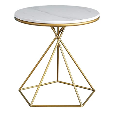 Amazon.com: Round Side Table Living Room Coffee Table 50cm ...