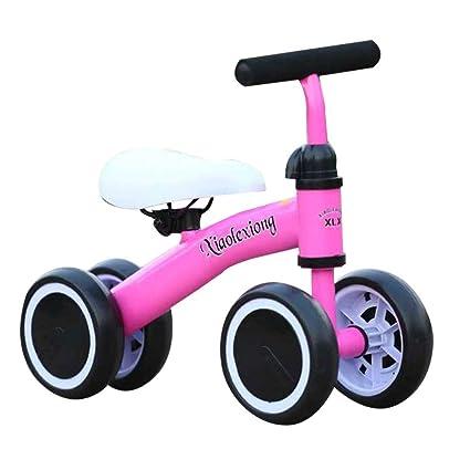 Decdeal Niños Equilibrio Bicicleta 4 Ruedas Sin Pedales Marco de Acero Juguetes para Montar en el