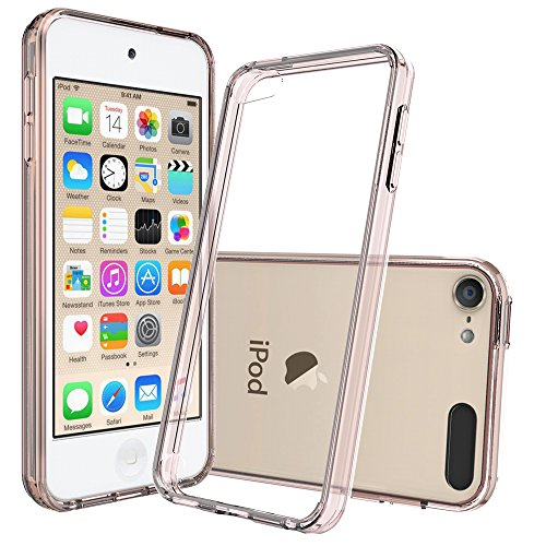 iPod Touch 5 Cases,iPod Touch 6 Cases with HD Screen Protector, AnoKe [Scratch Resistant] Acrylic Hard Cover with TPU Bumper Women Girls Men Ultra Slim Fit Protective Case for iPod Touch 5 6 TM Clear ()