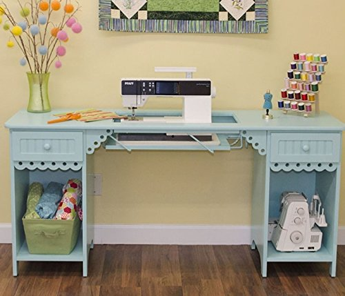Arrow 1009 Olivia Sewing Cabinet in Tiffany Blue by Arrow