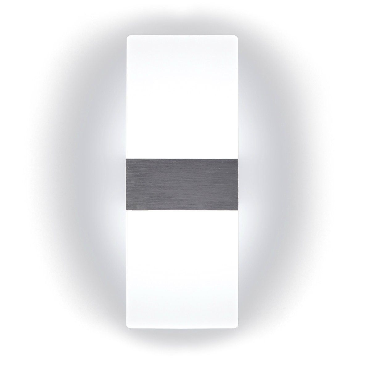 Kernorv LED Wall Sconces Light Modern and Fashion Cool White Modern Wall Sconce Decorative Lamps for Bedroom Living Room Balcony Porch Stairway Office Hotel and Hallway 11.4'' x 4.3'' (12W, 6000K)