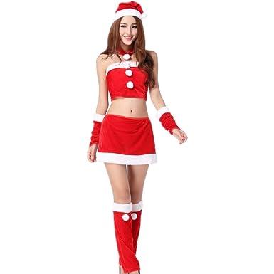 Amazon.com: Yandam Ropa de Navidad Sexy Traje de Navidad ...