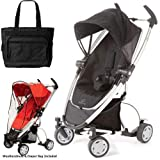 Quinny Zapp Xtra Stroller with Diaper Bag and Weathershield - Rocking Black