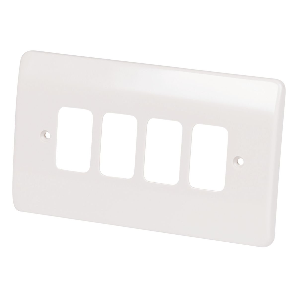 MK 4-Gang Front Plate White