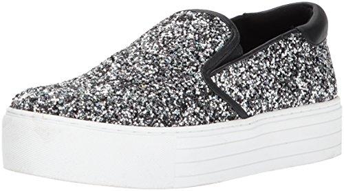 Kenneth Cole New York Women's Joanie Slip On Platform Glitter Fashion Sneaker, Pewter, 6 M US (Pewter Glitter)