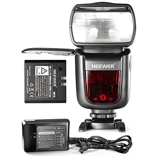Neewer NW850II 2 4G Wireless Manual 1/8000 HSS Master/Slave Flash Speedlite for Canon Nikon Pentax Olympus and Other DSLR Cameras with 2000mAh Li-ion Battery to Provide 650 Flashes in 1 5 Seconds