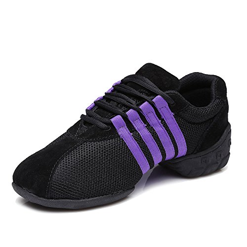 Women and T01 Shoes Dance HROYL Dance amp; Model Jazz Shoes Purple Modern Lace Trainer Dance Mesh up Dance Breathable Sneaker 7qqpgwFUXd