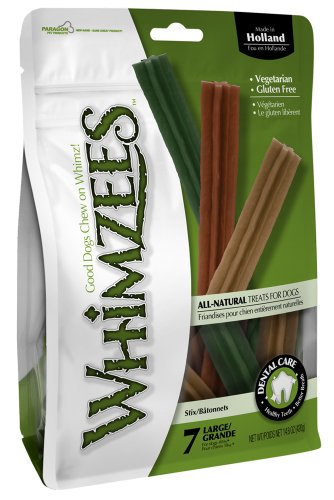 Paragon Whimzees Stix Dental Treat for Large Dogs, 7 Per Bag