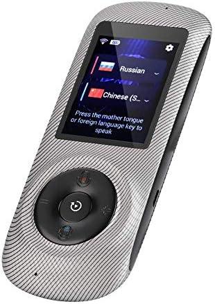 リアルタイム音声翻訳機 ポータブル 電子マルチ言語翻訳器 52言語対応 音声翻訳デバイス 2.4インチHDタッチスクリーン付き 271-395-512