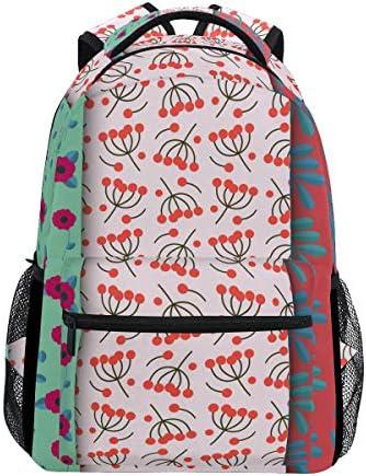 フローラルチェリーカジュアルバッグ リュック リュック ショルダーバッグ 流行 おしゃれ 人気 ラップトップバッグ こども 通勤 通学