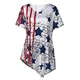 TOOPOOT Exclusive Crop Tops Women's American Flag Tank Tops Patriotic National Flag Bow Tie Top Loose Fit Camisole Casual Blouse T Shirt (XXL, Black)