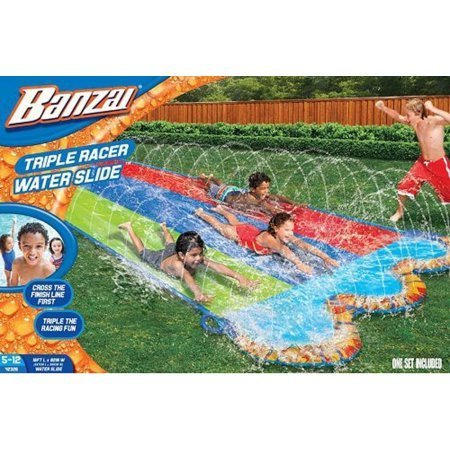 Banzai 42329 triple racer water slide