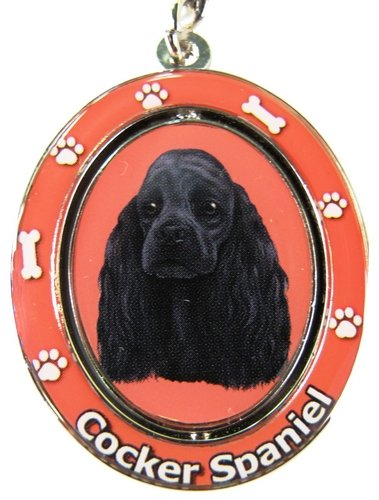 Black Cocker Spaniel Keychain