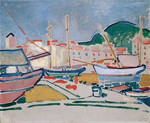 Oil Painting 'Derain, Andre_1905_Port', 30 x 37 inch / 76 x 93 cm , on High Definition HD canvas prints is for Gifts And Bed Room, Game Room And Powder - Ban Tim Online