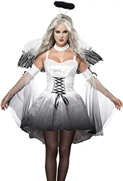 GOMSK Disfraz De Halloween para Mujer, Disfraz De Bruja del Diablo ...