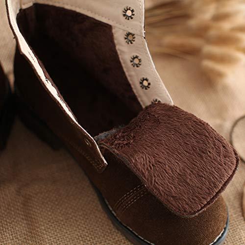 Shukun Stiefeletten Retro Stil Martin Stiefel weiblich Mori mädchen literarisch süße Stiefel Shorts mit Schuhe Herbst