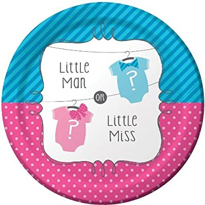 "Little Man or Little Miss 9"" Lunch/Dinner Plates (8 ct): Toys & Games"