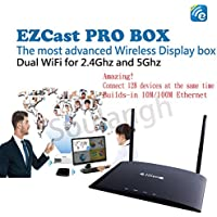 Glorykylin EZCast PRO Box Wireless Presentation 4-to-1 Quadrant Screen Projection High Speed 802.11ac WiFi & Builds-in 10M/100