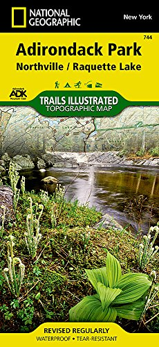 Northville, Raquette Lake: Adirondack Park (National Geographic Trails Illustrated Map (744)) (Northville Woods)