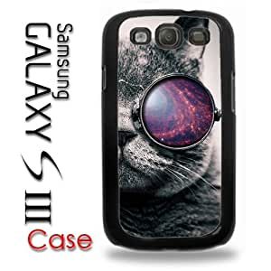 Samsung Galaxy S3 Plastic Case - Tumblr Cat Galaxy Glasses