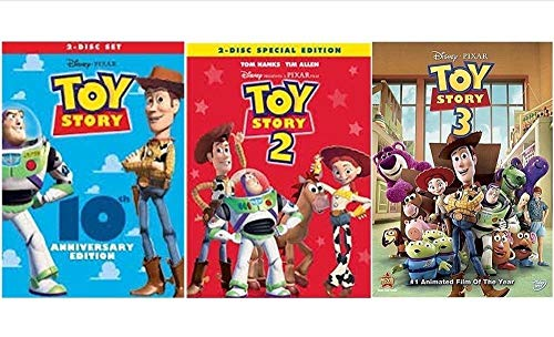 Black Series Toy Story Trilogy DVD Movie The Complete Collection 1, 2, 3 All 3 Parts ()