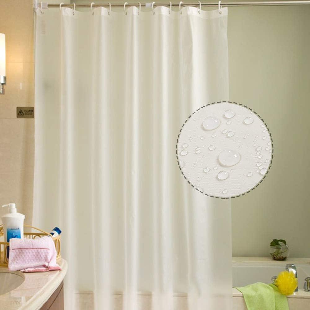 Htovila Duschvorhang Anti-Schimmel Wasserdicht mit 12 Duschvorhangringe aus Waschbar Polyester 180 x 180 cm B/äume Muster