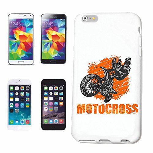 "cas de téléphone iPhone 7S ""MOTOCROSS EXTREME SPORT MOTOCROSS MOTOCROSS BIKE OUTDOOR Crossbike FREESTYLE"" Hard Case Cover Téléphone Covers Smart Cover pour Apple iPhone en blanc"