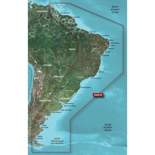 GARMIN Garmin BlueChart G2 HXSA001R South America East Coast MicroSD/SD / 010-C1062-20 / For Sale